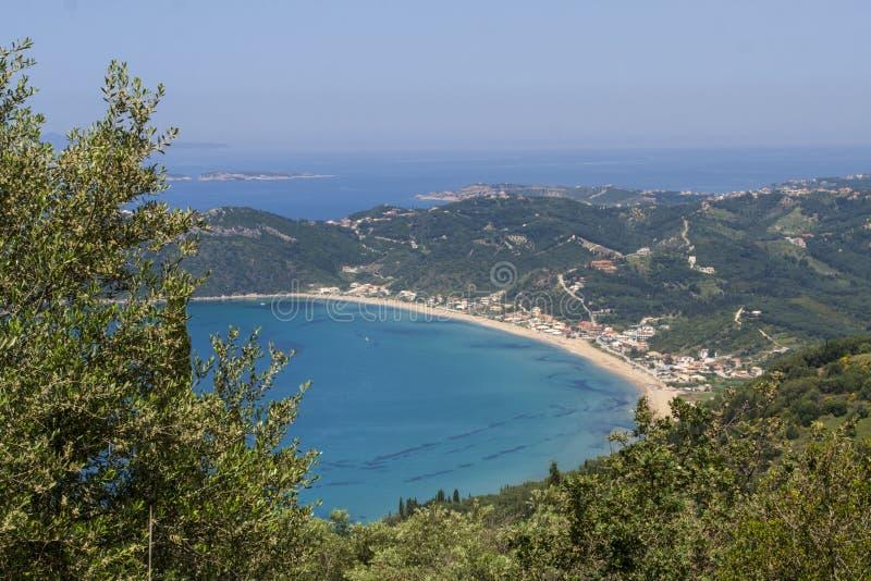 俯视的贴水乔治斯,科孚岛,希腊 图库摄影