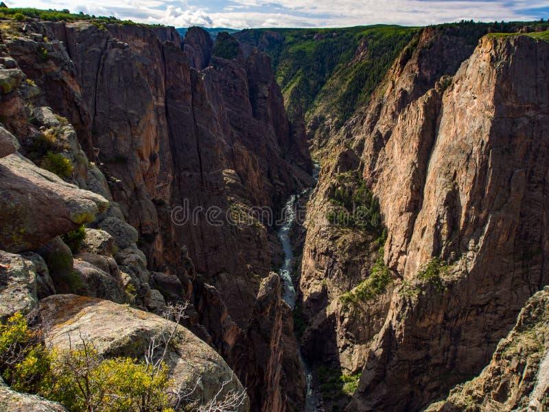 俯视黑峡谷,科罗拉多 库存照片