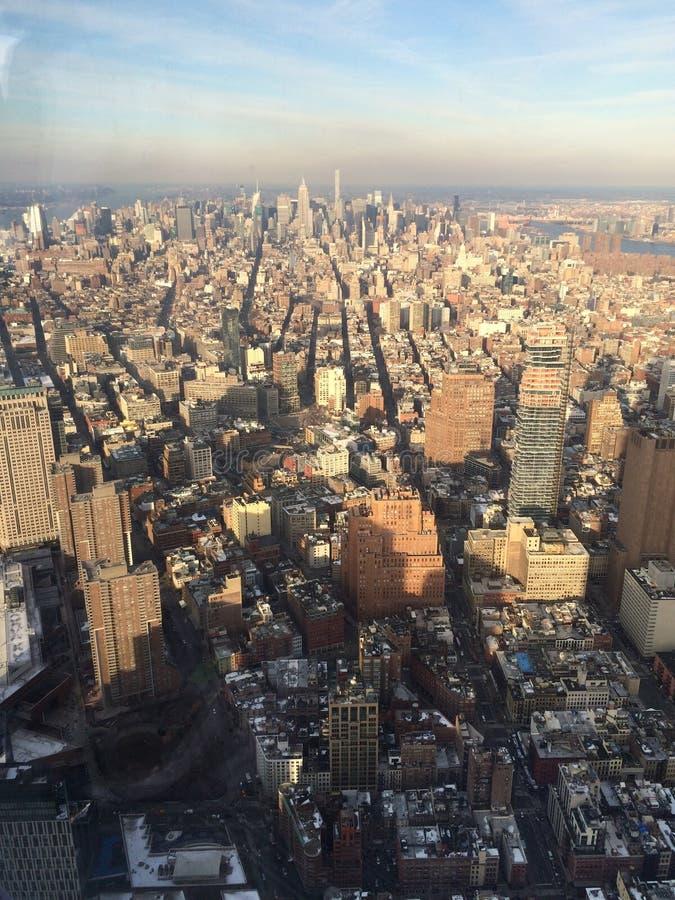 俯视从塔一的曼哈顿 免版税图库摄影