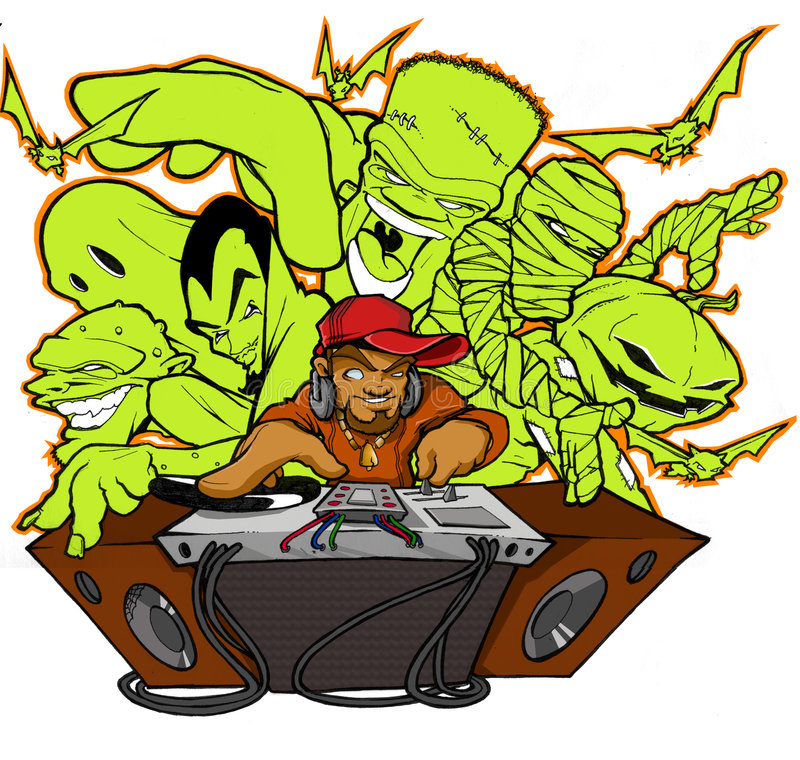 俱乐部万圣节Hip Hop 免版税图库摄影