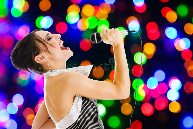俱乐部晚上歌唱家 免版税库存照片