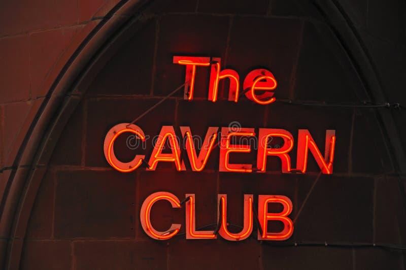 洞穴俱乐部标志,利物浦 免版税库存照片