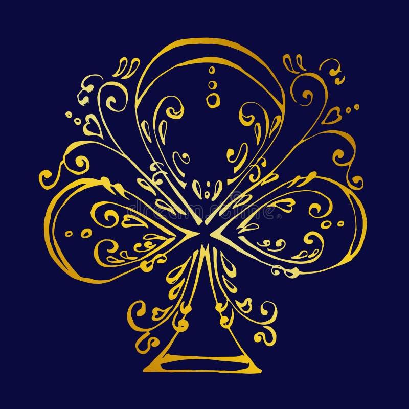 俱乐部美丽的一点在金子颜色的 皇族释放例证