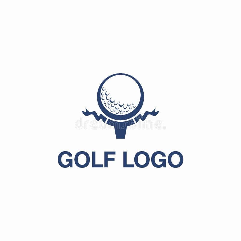 俱乐部高尔夫球或体育商标设计观念 向量例证