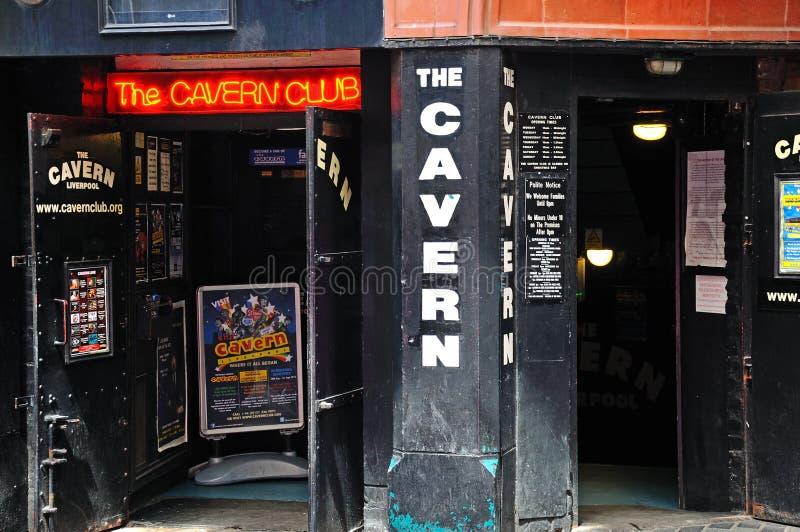 洞穴俱乐部,利物浦 免版税库存图片