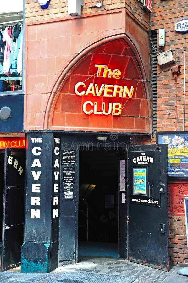 洞穴俱乐部,利物浦 免版税库存照片