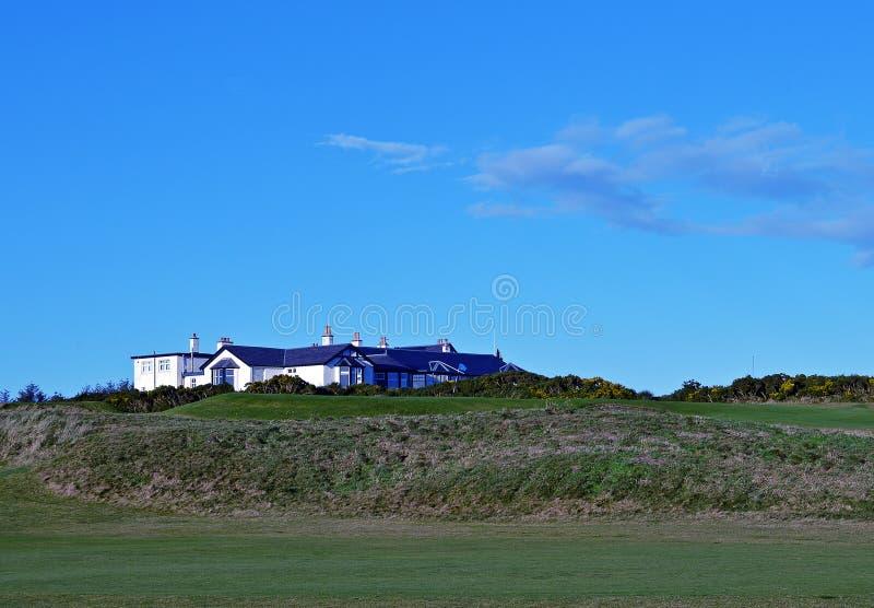 俱乐部,皇家阿伯丁高尔夫俱乐部,阿伯丁,苏格兰 免版税库存照片