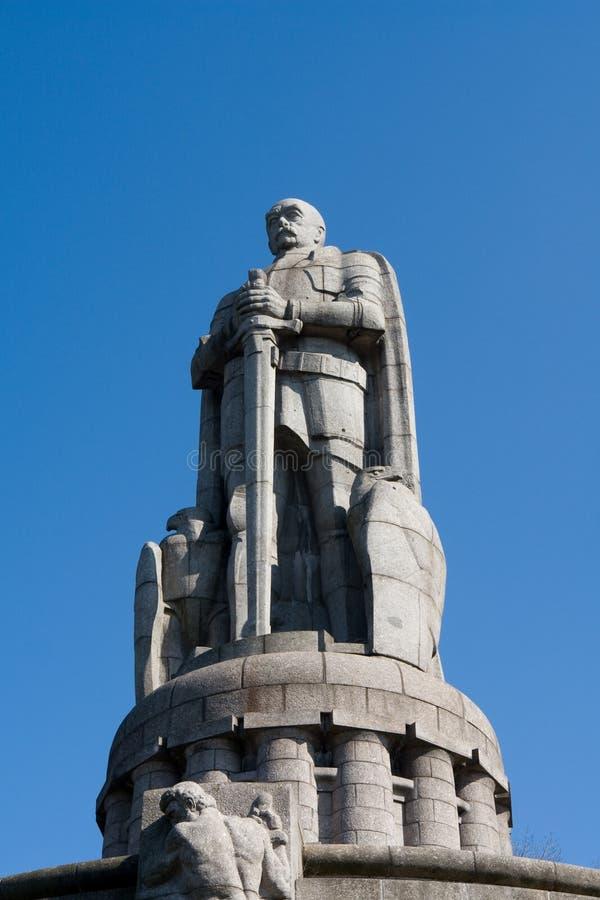 俾斯麦纪念碑 免版税图库摄影