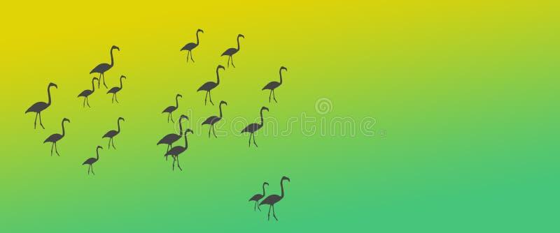 倒栽跳水背景鸟更加伟大的火鸟群在边 皇族释放例证