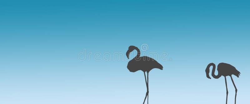 倒栽跳水背景鸟更加伟大的火鸟配对站立在边 皇族释放例证