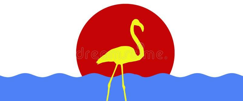 倒栽跳水背景鸟更加伟大的火鸟隔绝了与太阳 向量例证