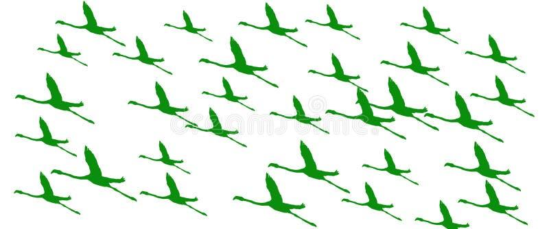 倒栽跳水背景鸟更加巨大的火鸟飞行 向量例证