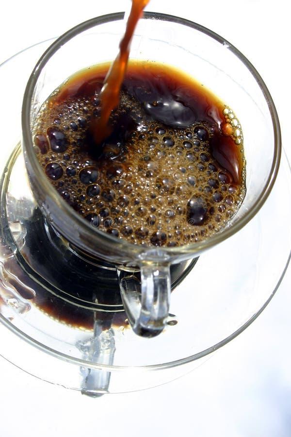 倒的咖啡 库存照片