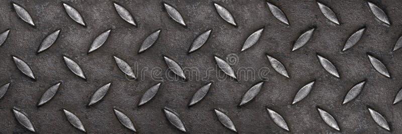 倒空样式和背景的水平的金刚石板材钢 免版税库存图片