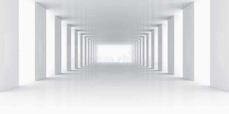 倒空空间白色 向量例证
