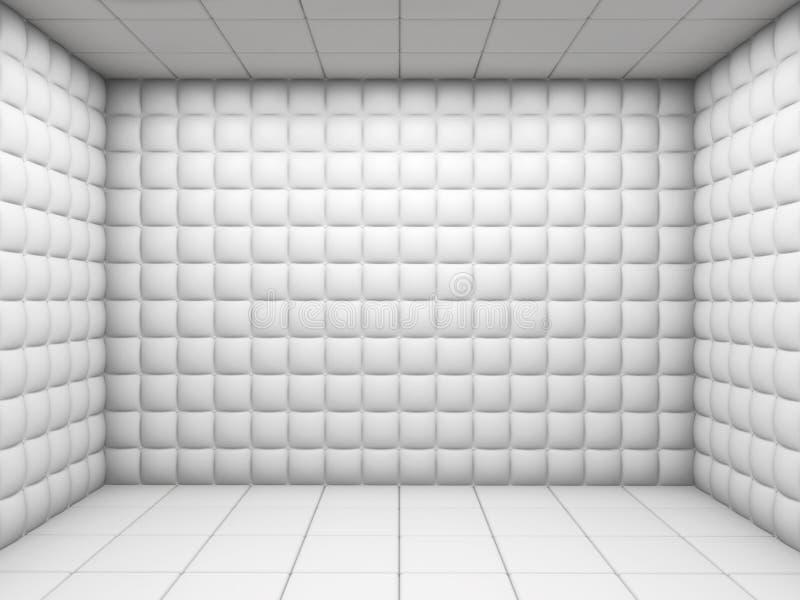 倒空被填充的空间白色 皇族释放例证