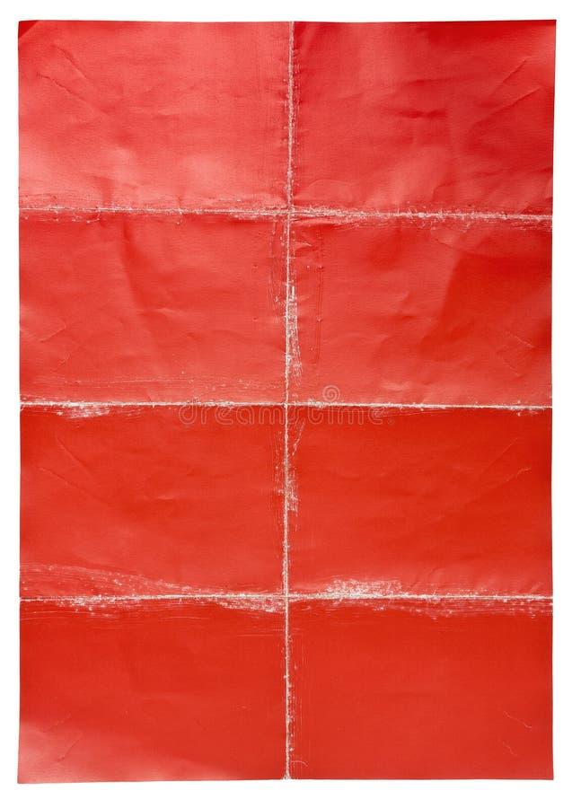倒空被折叠的纸海报 库存照片