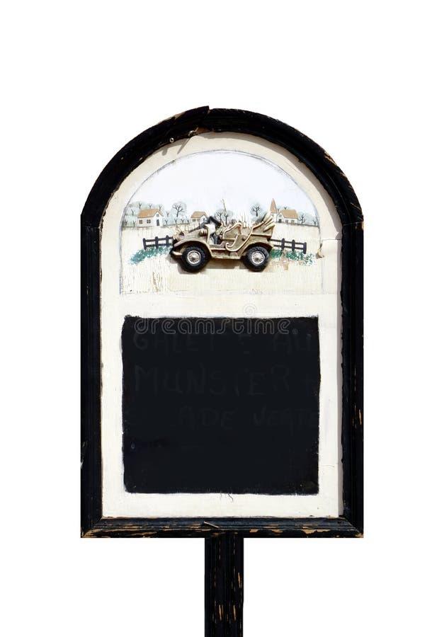 倒空被隔绝的黑板 库存照片