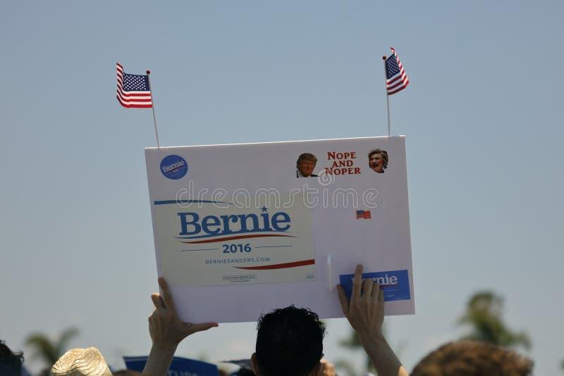 总统候选人伯尼・桑德斯主持总统Campaig 库存图片