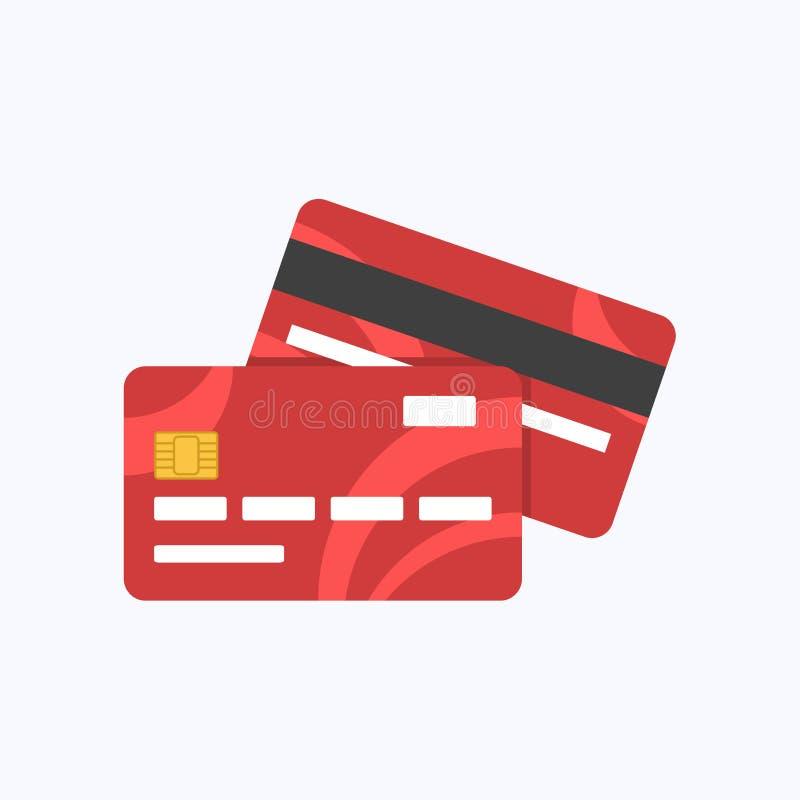 借方或信用卡支付 库存例证