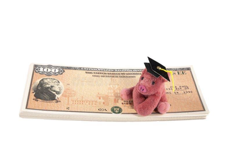 债券教育储蓄 库存照片