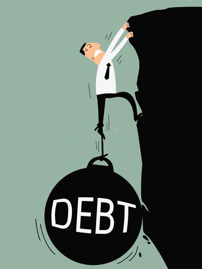 债务减少 皇族释放例证