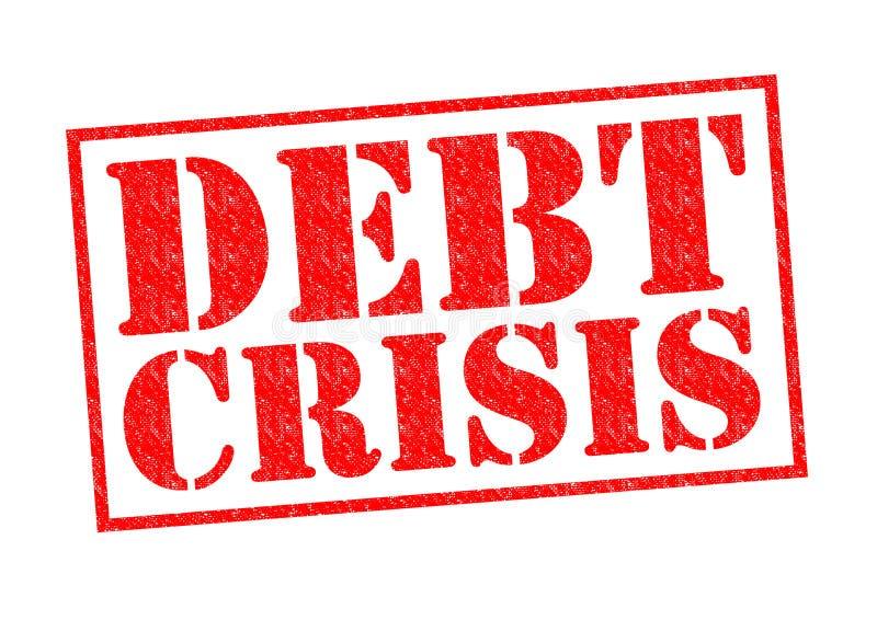 债务危机 库存照片