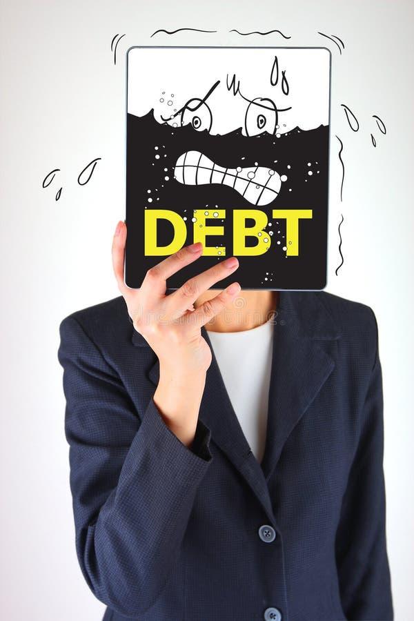 债务概念 库存图片