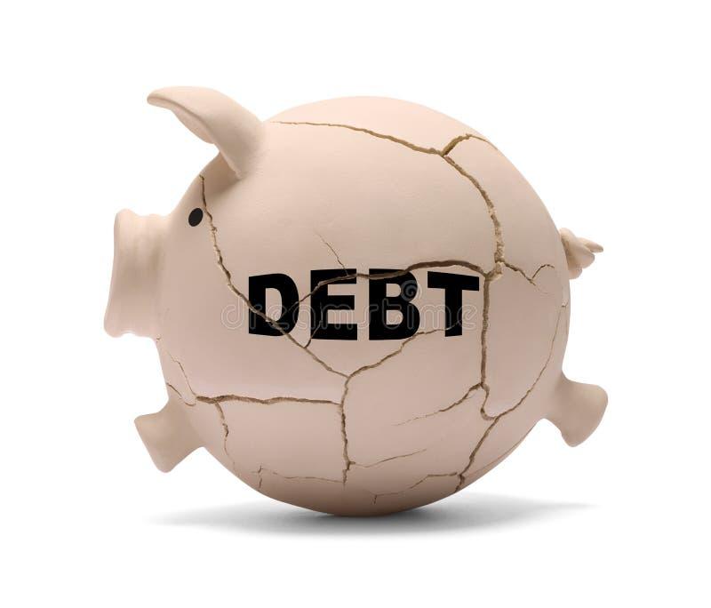 债务猪 图库摄影