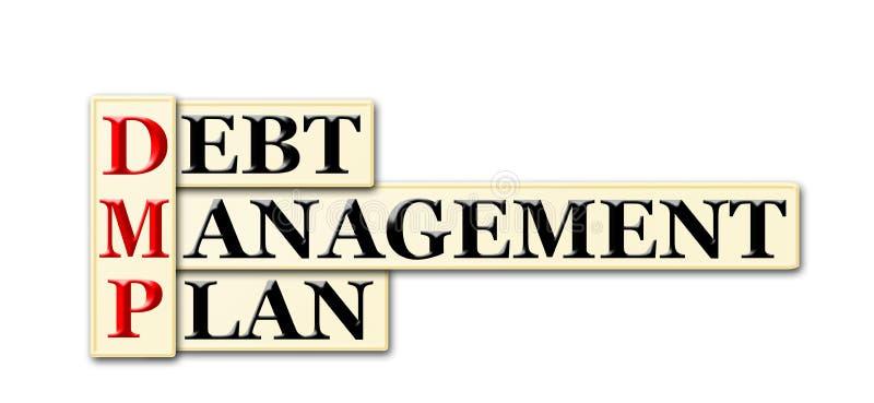 债务管理计划 向量例证