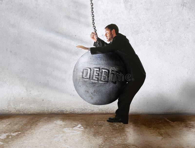 债务胜利 免版税库存照片