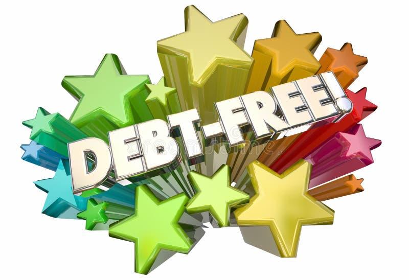 债务自由饶恕金钱欠的星词 库存例证