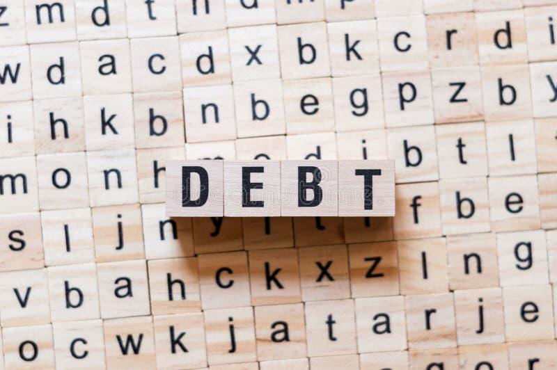 债务词概念 库存照片