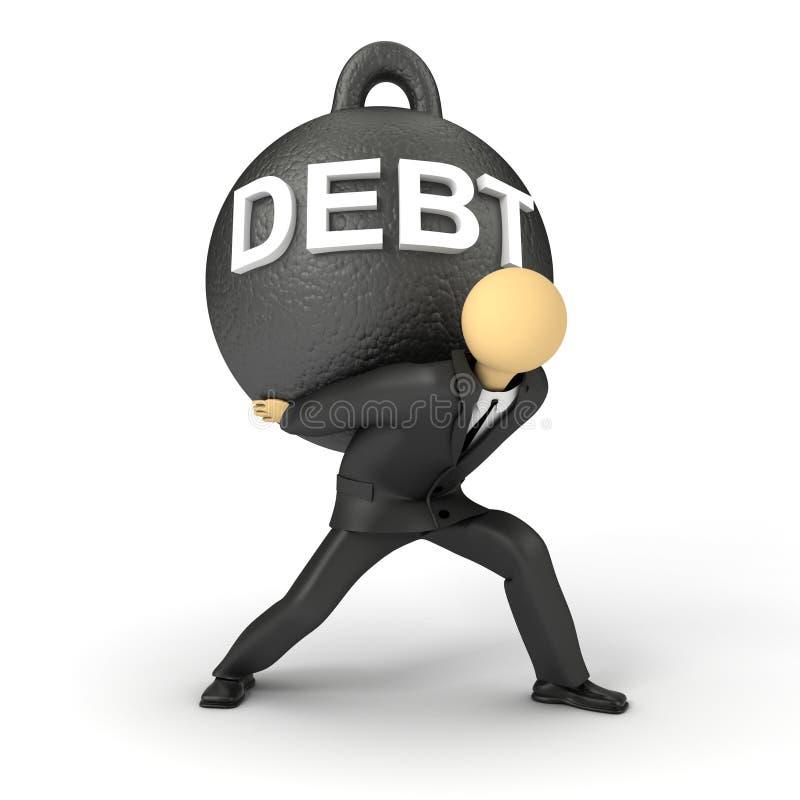 债务重量 向量例证