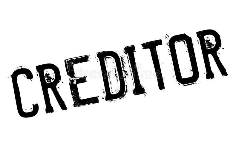 债权人不加考虑表赞同的人 库存例证