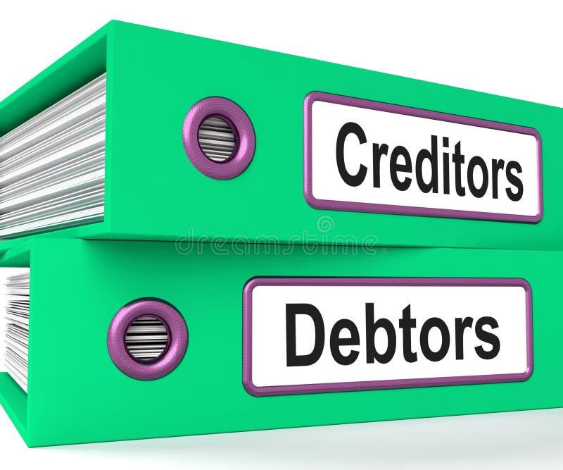 债权人债家归档显示借 库存例证