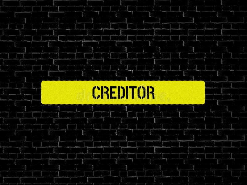 债权人-与词与题目不能溶解相关,词,图象,例证的图象 向量例证