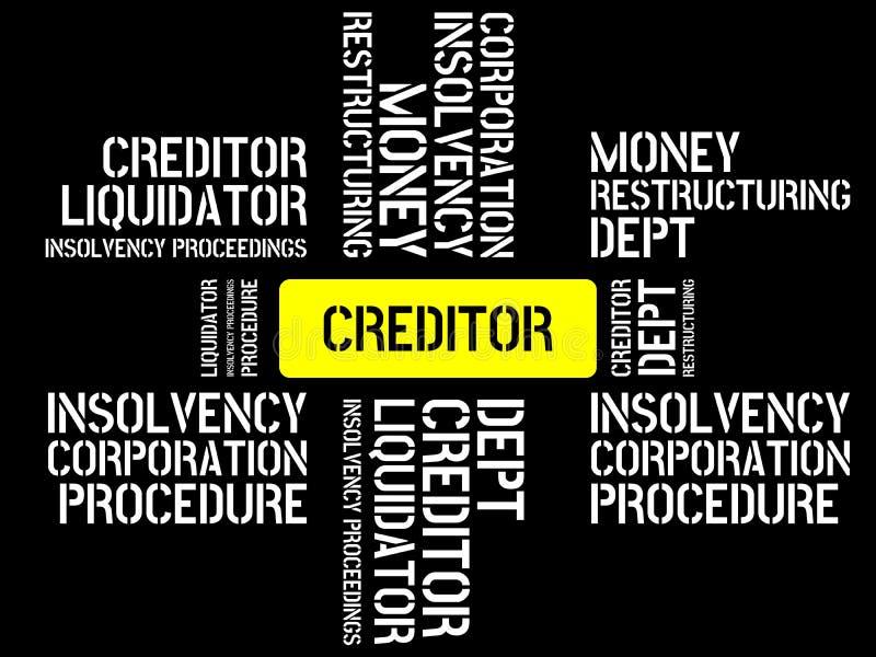 债权人-与词与题目不能溶解相关,词,图象,例证的图象 皇族释放例证