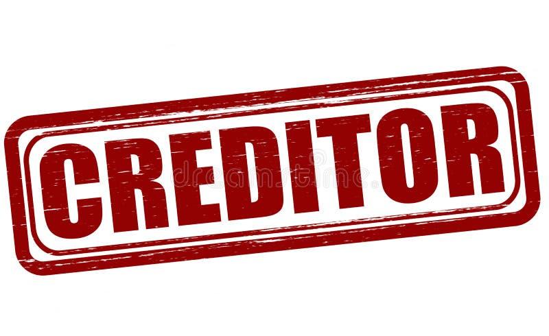 债权人 向量例证