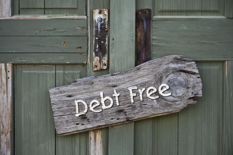 负债释放 免版税图库摄影