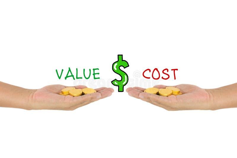 价值对成本比较 库存图片