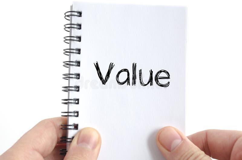价值文本概念 免版税库存照片