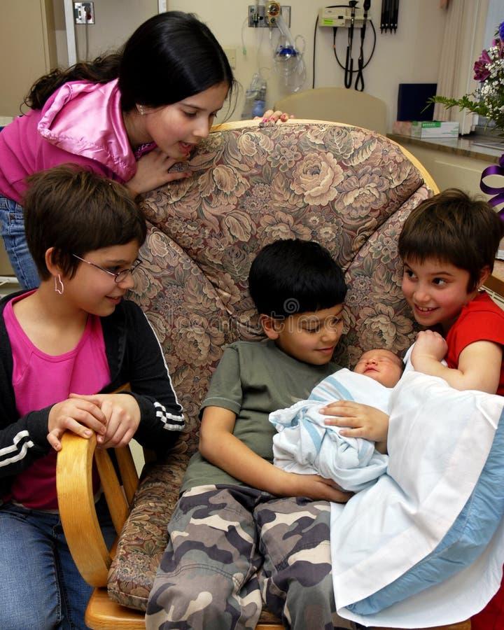 倾慕新出生的社团 库存图片