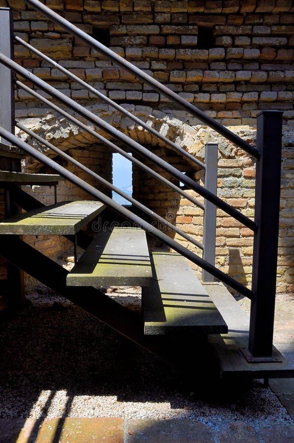 倾斜台阶 免版税图库摄影