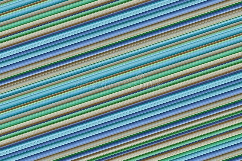 倾斜对角背景平行条纹蓝色淡紫色米黄盘区设计基地无穷级数 免版税库存照片
