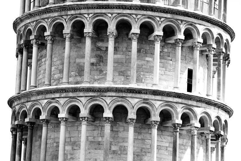 倾斜比萨塔托斯卡纳的意大利 免版税库存照片