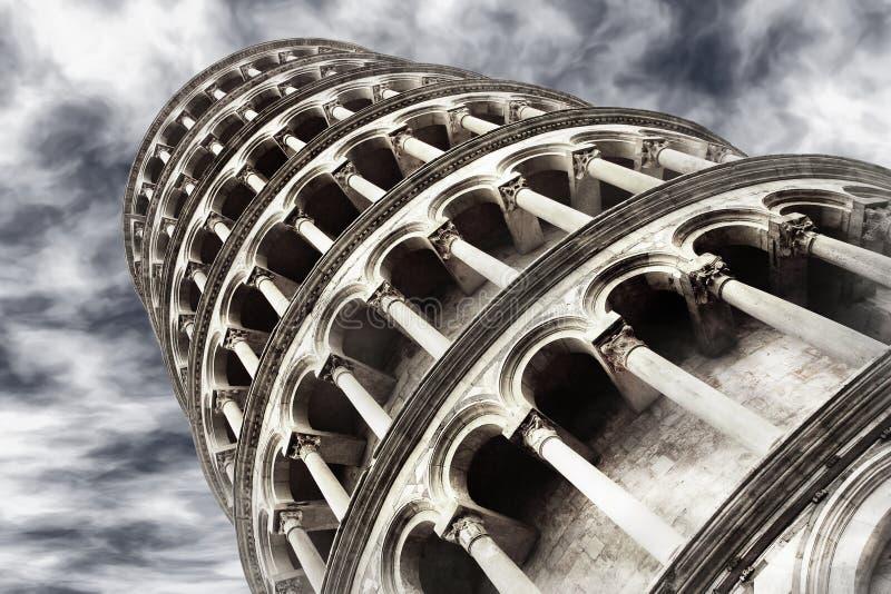倾斜的比萨塔 免版税库存照片