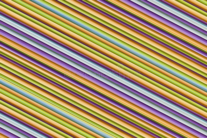 倾斜的稀薄的线五颜六色的背景设计背景米黄蓝色紫色平行的条纹 免版税库存照片
