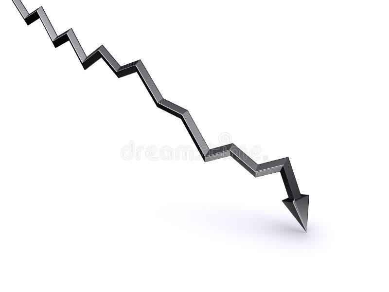 倾没股票 向量例证