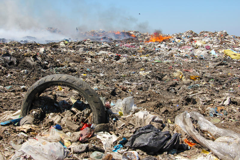 倾销垃圾污染 免版税库存照片